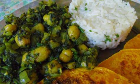 Curry vegan de pois chiches et d'épinards