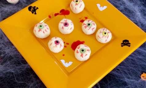 Oeil d'Halloween à la noix de coco