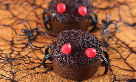Halloween : Muffins araignées