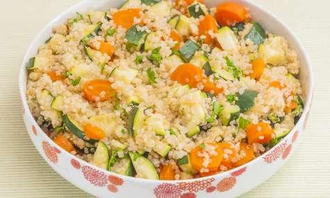 Salade de quinoa aux carottes et courgettes