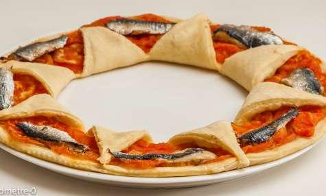 Pizza sardines tomates