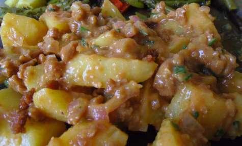 Salade vegan de pommes de terre au lard végétal maison