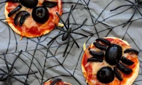 Pizza araignée pour Halloween