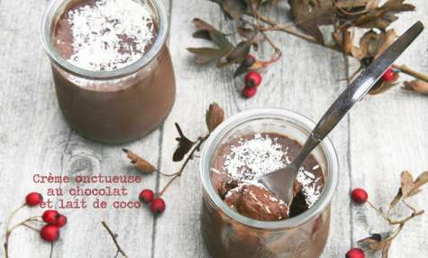 Crème au chocolat au lait de coco