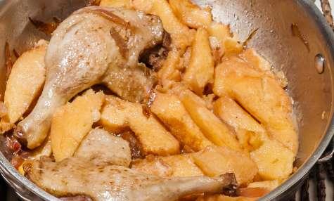 Canard aux coings et au miel