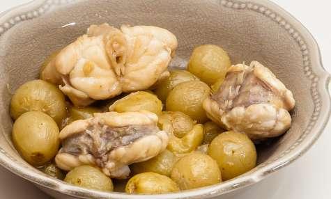 Lotte aux raisins frais et au gingembre
