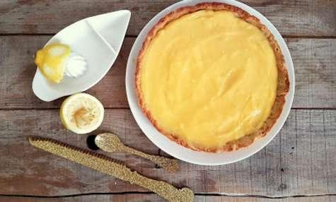 Tarte au citron sur pâte sablée à la vergeoise