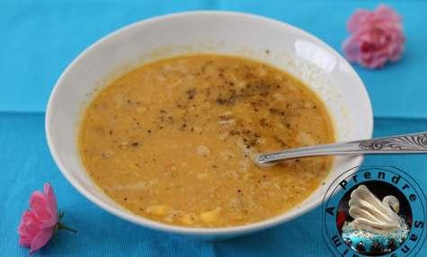 Soupe de maïs aux poivrons