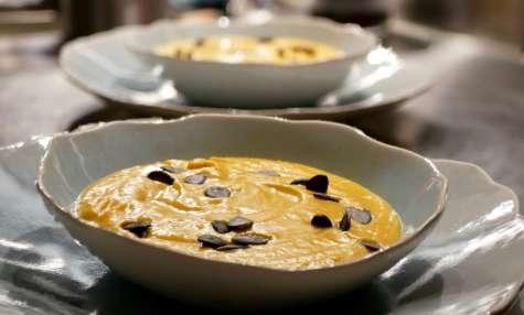 Velouté de Potimarron au lait de coco et curcuma frais