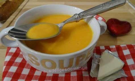 Soupe de carottes et topinambours à la vache-qui-rit