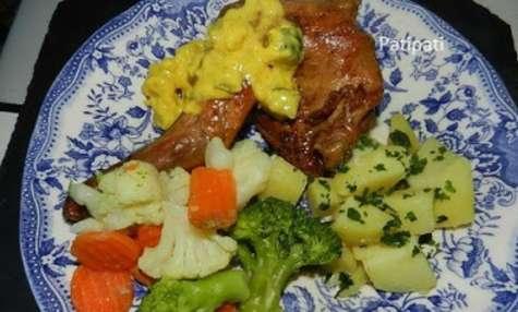 Cuisse de lapin sauce blackwells et ses légumes