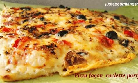Pizza façon raclette party