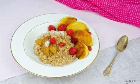 Porridges aux graines de sarrasin vegan