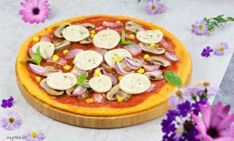 Pizza à la polenta vegan