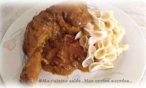 Cuisses de poulet coco et curcuma