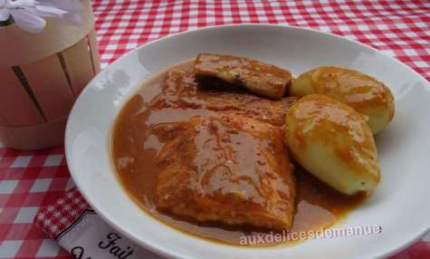 Trio de poissons au four en sauce suprême de langoustine