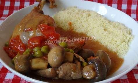 Cuisses de canard en sauce de légumes