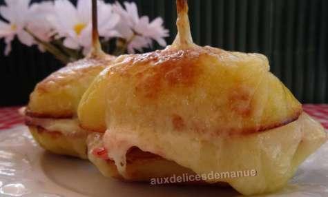 Croque-pomme de terre au jambon et Comté