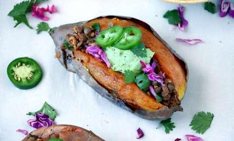 Patates douces farcies façon tacos