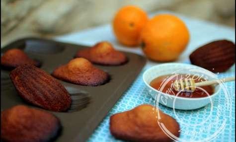 Madeleines au miel et zeste d'orange d'après Cyril Lignac