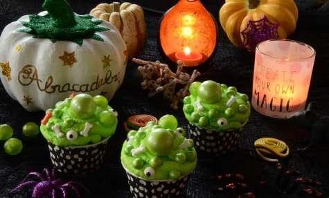 Les cupcakes de la sorcière d'Halloween
