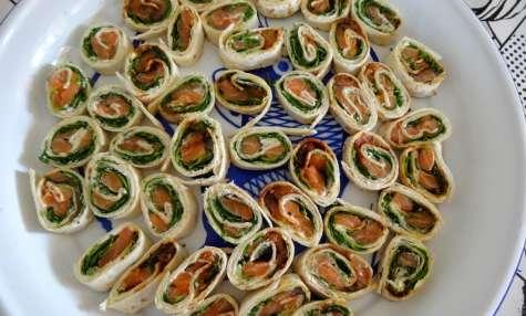 Wraps au saumon frais