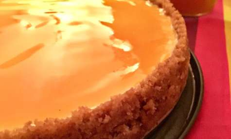 Le cheesecake au maracuja ou fruit de la passion