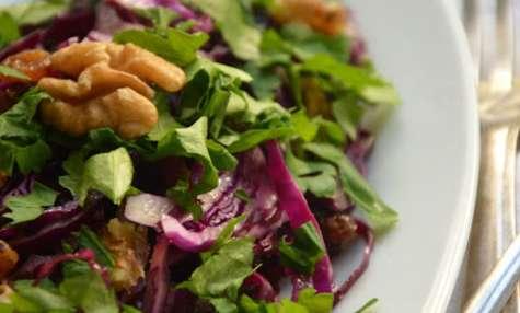Salade de chou rouge sucrée-salée