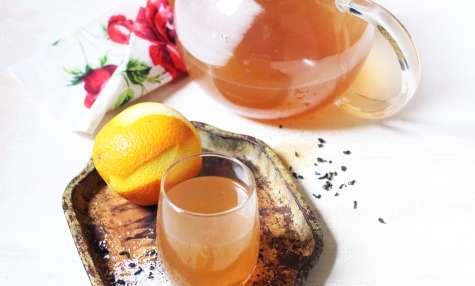 Thé vert, coco et zestes d'orange