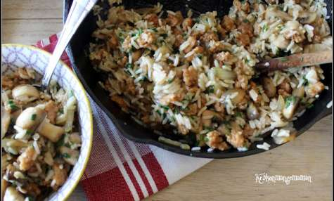 Poêlée de riz sauté et de PST sauce soja agave
