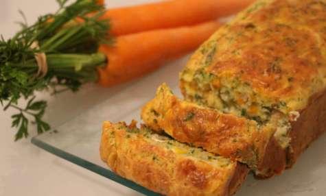 Cake moelleux carottes et fanes