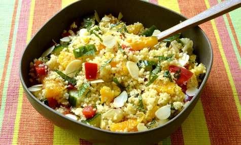 Salade de couscous à l'orange et à la menthe