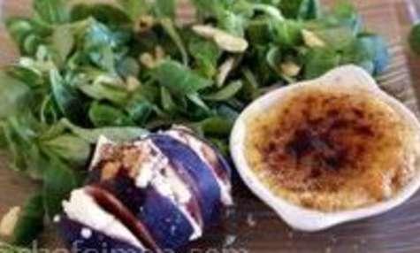 Crèmes brûlées de foie gras et figues fraîches au brocciu