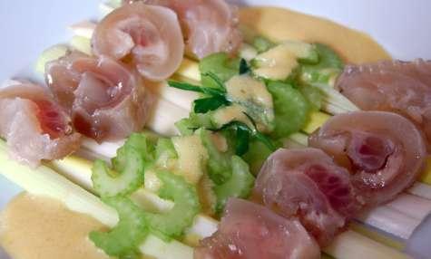 Salade des deux pieds, veau et céleri façon taoiste.