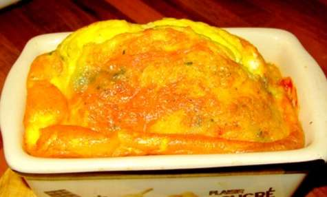 Cake-omelette au fromage
