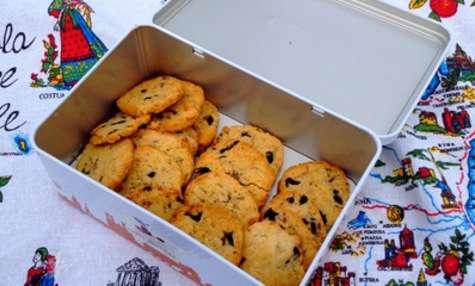 Cookies parmesan et olives noires