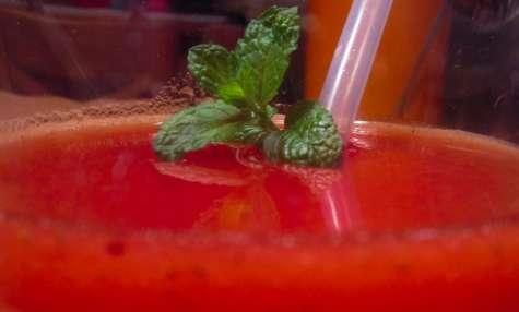 Soupe de fraises vanillée