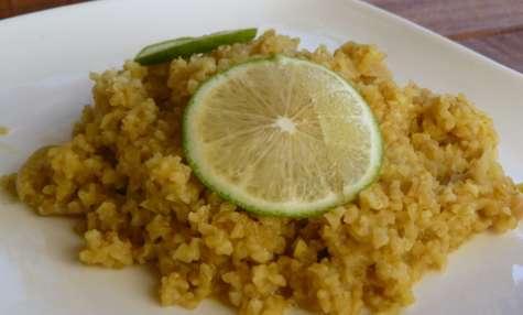 Boulgour épicé au lait de coco et citron vert