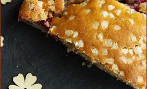 Gâteau framboises-amandes sans oeufs