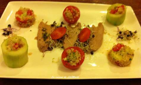 Salade autour de l'émincé de thon