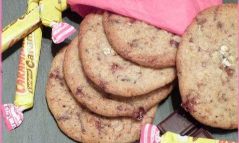 Cookies fondants chocolat noir et carambar