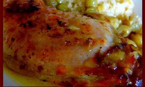 Cuisses de poulet aux épices et aux raisins