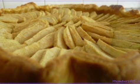 Tarte aux pommes et à la crème patissière aux carambar