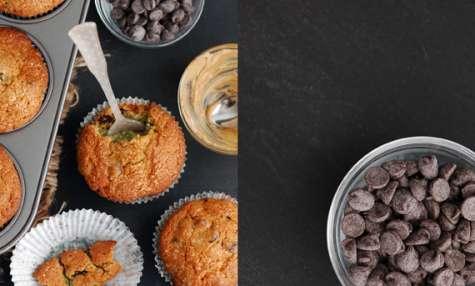 Muffin aux pépites de chocolat et beurre de tournesol