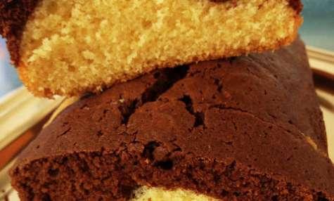 Le gâteau marbré chocolat, vanille et rhum
