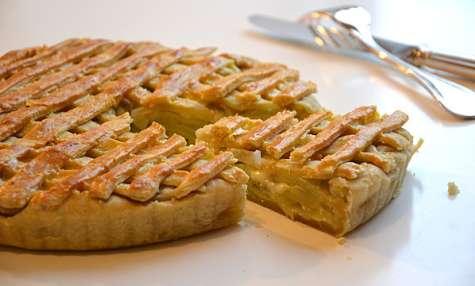 Tourte aux poireaux, pommes de terre et mozzarella