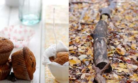 Muffin à la courge et pépites de chocolat