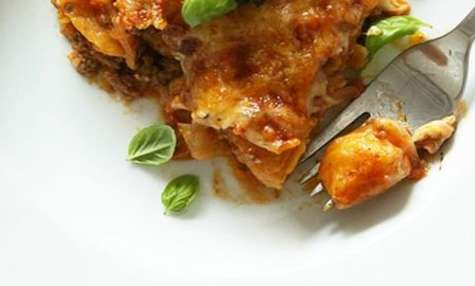 Gratin de gnocchis aux carottes, sauce tomate-boeuf