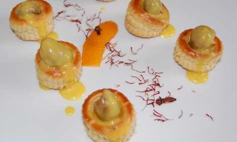 Bouchées de rognons de lapin, sauce colombo, orange et safran