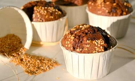 Muffins tout chocolat aux petites graines
